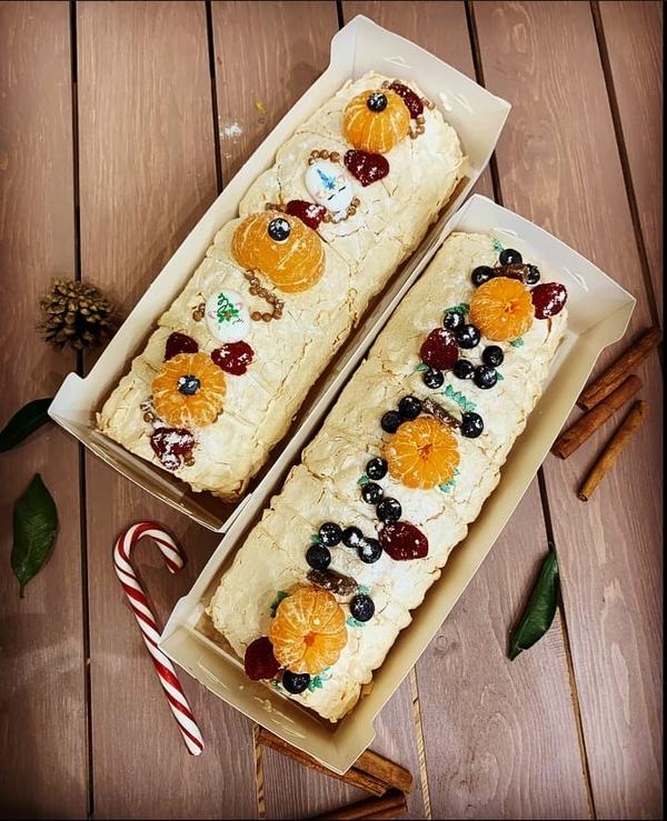 Меренговый рулет,  торт